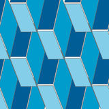 Abstract seamless 3d rhombus pattern Royalty Free Stock Image