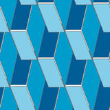 Abstract seamless 3d rhombus pattern Stock Images