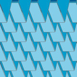 Abstract seamless 3d rhombus pattern Royalty Free Stock Photos