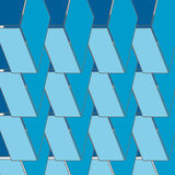 Abstract seamless 3d rhombus pattern Royalty Free Stock Photo