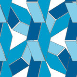 Abstract seamless 3d rhombus pattern Stock Image