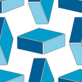 Abstract seamless 3d rhombus pattern Royalty Free Stock Images