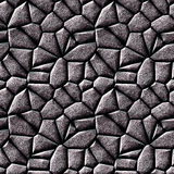 Abstract seamless 3d texture with silver stones Stock Photos