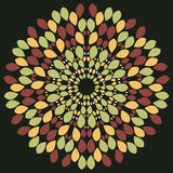 Abstract seamless  dark pattern with abstract flowers Royalty Free Stock Photo