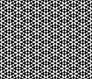 Abstract seamless decorative black & white oriental pattern Royalty Free Stock Photos