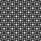 Abstract Seamless Decorative Geometric Black & White Pattern Background Stock Photo