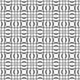 Abstract Seamless Decorative Geometric Black and White Pattern. Vector illustration Stock Photography