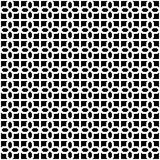 Abstract Seamless Decorative Geometric Dark Black & White Pattern Royalty Free Stock Images