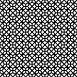Abstract Seamless Decorative Geometric Dark Black & White Pattern Royalty Free Stock Photo