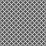 Abstract Seamless Decorative Geometric Dark Black & White Pattern Stock Image