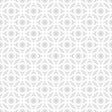Abstract Seamless Decorative Geometric Light Gray & White Pattern Background.  Stock Image