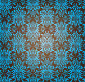 Abstract Seamless Design. Abstract Seamless Ornamental blue and brown Wallpaper Royalty Free Stock Photo