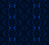 Abstract seamless diamond pattern dark blue on black netting. Abstract geometric seamless background. Shiny delicate diamond pattern in azure and dark blue Stock Image