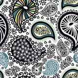 Abstract seamless doodle pattern Stock Photos