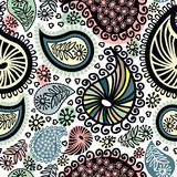 Abstract seamless doodle pattern. Model for design of gift packs, patterns fabric, wallpaper, web sites, etc Stock Photography