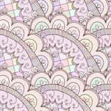 Abstract seamless doodle pattern Stock Images