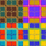 Abstract seamless drawings of squares Stock Photos