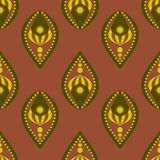 Abstract seamless drop-like pattern vector illustration