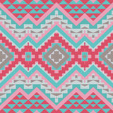 Abstract seamless ethnic geometric pattern Stock Photography