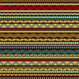 Abstract Seamless Ethnic Pattern. Seamless geometric ethnic pattern. Abstract African pattern in vivid colors. Fancy multicolored background ornament Stock Image