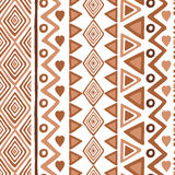 Abstract seamless ethnic pattern textures in light brown colors. Royalty Free Stock Image