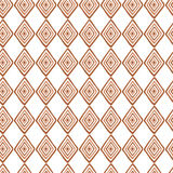 Abstract seamless ethnic pattern textures in light brown colors with rhombus Stock Photography