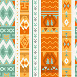 Abstract Seamless Ethno Pattern. Stylish Tribal Background. Pattern for Wallpaper and Textile Design. Bright Vector Tribal Texture royalty free illustration