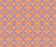 Abstract seamless fabric retro pattern of intersecting hoops Royalty Free Stock Images