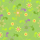 Abstract seamless floral background Stock Photography