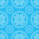 Abstract seamless floral blue background Stock Images