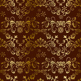 Abstract seamless floral brown pattern Royalty Free Stock Photos