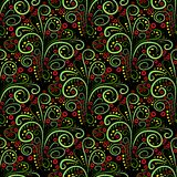 Abstract seamless floral curl pattern. Vector Stock Images