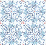 Abstract seamless floral kaleidoscopic pattern Stock Photography