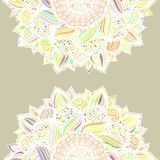 Abstract seamless floral mandala vector pattern. Abstract seamless floral vector pattern made of colorful mandalas. Romantic background. Texture design for stock illustration