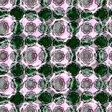 Abstract seamless floral mosaic pattern Stock Photo