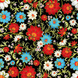 Abstract seamless floral ornament Royalty Free Stock Images