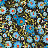 Abstract seamless floral ornament isolated on a black Royalty Free Stock Photos