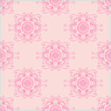 Abstract seamless with floral ornament. In pink colors Stock Image