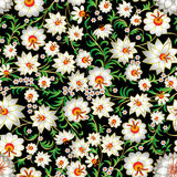 Abstract seamless floral ornament and shadows Stock Images