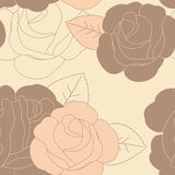 Abstract seamless floral pattern Stock Image