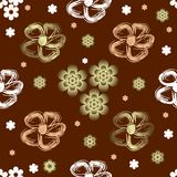 Abstract seamless floral pattern. Abstract seamless floral pastele brown pattern (vector vector illustration