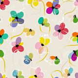 Abstract seamless floral pattern. Abstract floral pattern background, with strokes and splashes, seamless texture Royalty Free Stock Photo