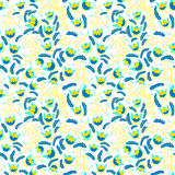 Abstract seamless floral pattern in a doodle style, vector decor Stock Image