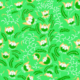 Abstract seamless floral pattern in a doodle style, vector decor Royalty Free Stock Photo