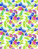 Abstract seamless floral pattern. Seamless ebstract floral pattern. free from flowers in vibrant colors in allover composition on white background. summer look Royalty Free Stock Images