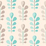 Abstract seamless floral pattern Stock Photography