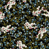 Abstract seamless floral pattern with forget-me-not Royalty Free Stock Photography