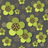 Abstract Seamless floral pattern. Abstract Seamless geometric floral pattern. Vector illustration Royalty Free Illustration