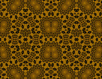 Abstract seamless floral pattern gold brown Royalty Free Stock Photography