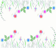 Abstract seamless floral pattern Royalty Free Stock Photography